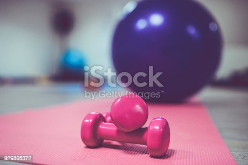 istock Female Sports Equipment in the Training Class 929865372