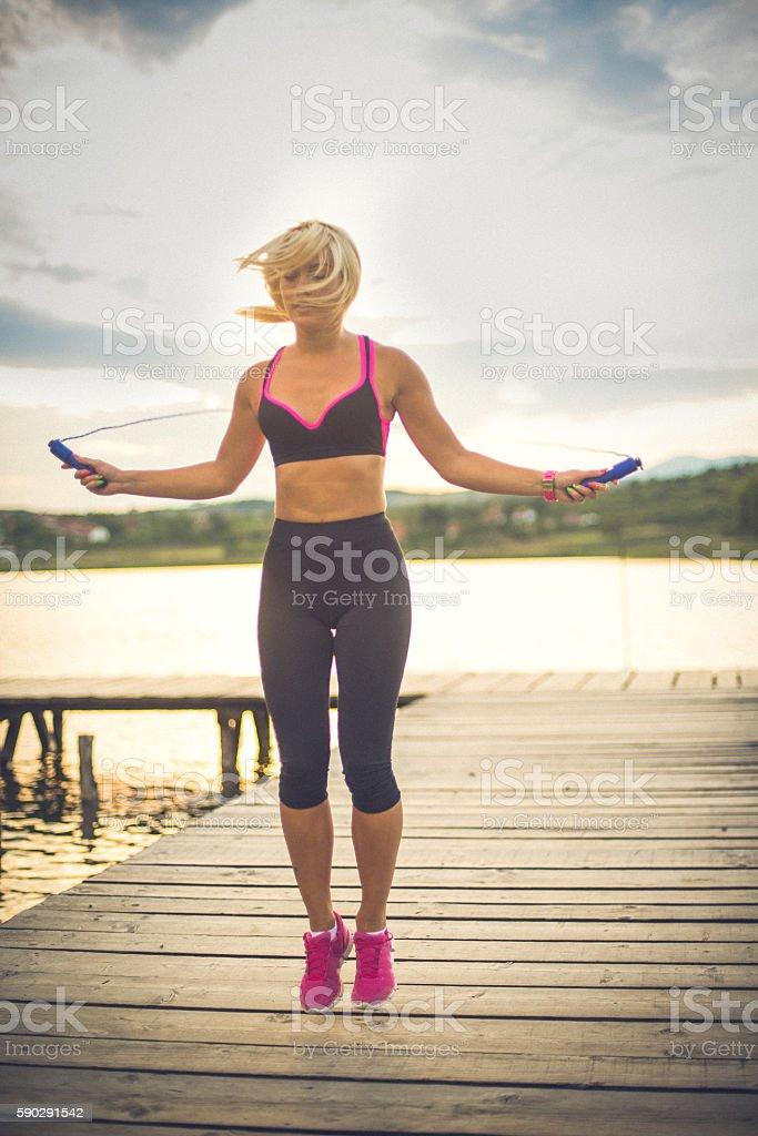 Female sportsman Стоковые фото Стоковая фотография