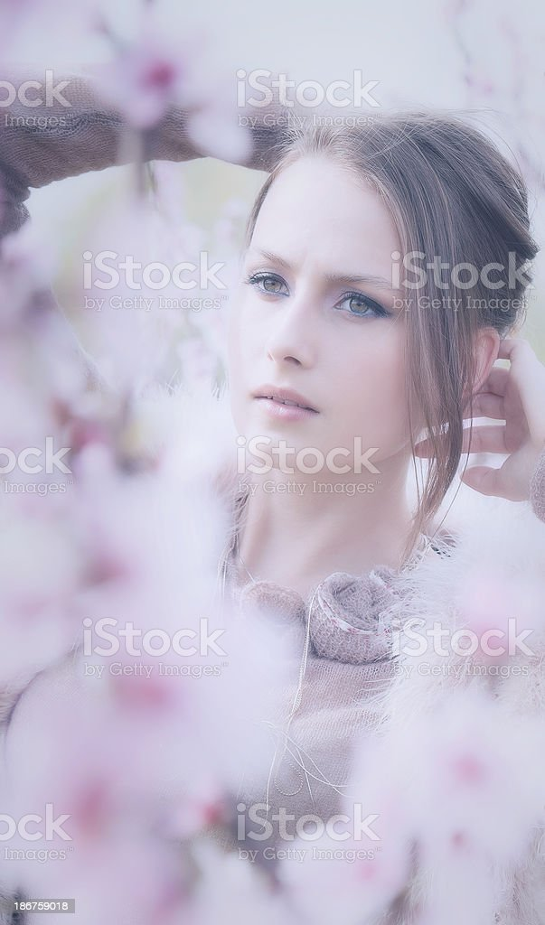female spring portrait royalty-free stock photo