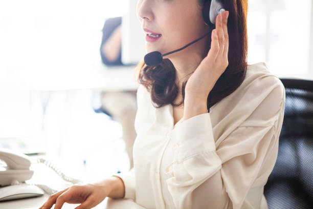 Female staff of customer service stock photo