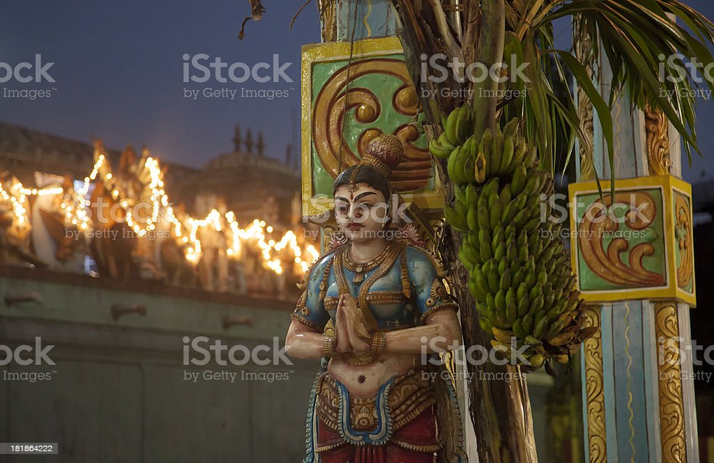 Female Statue Outside The Temple royalty-free stock photo