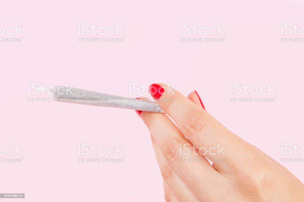 Female stoner. stock photo