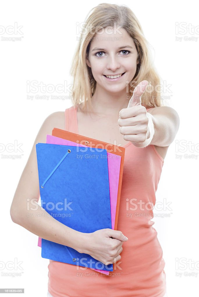 Female student royalty-free stock photo
