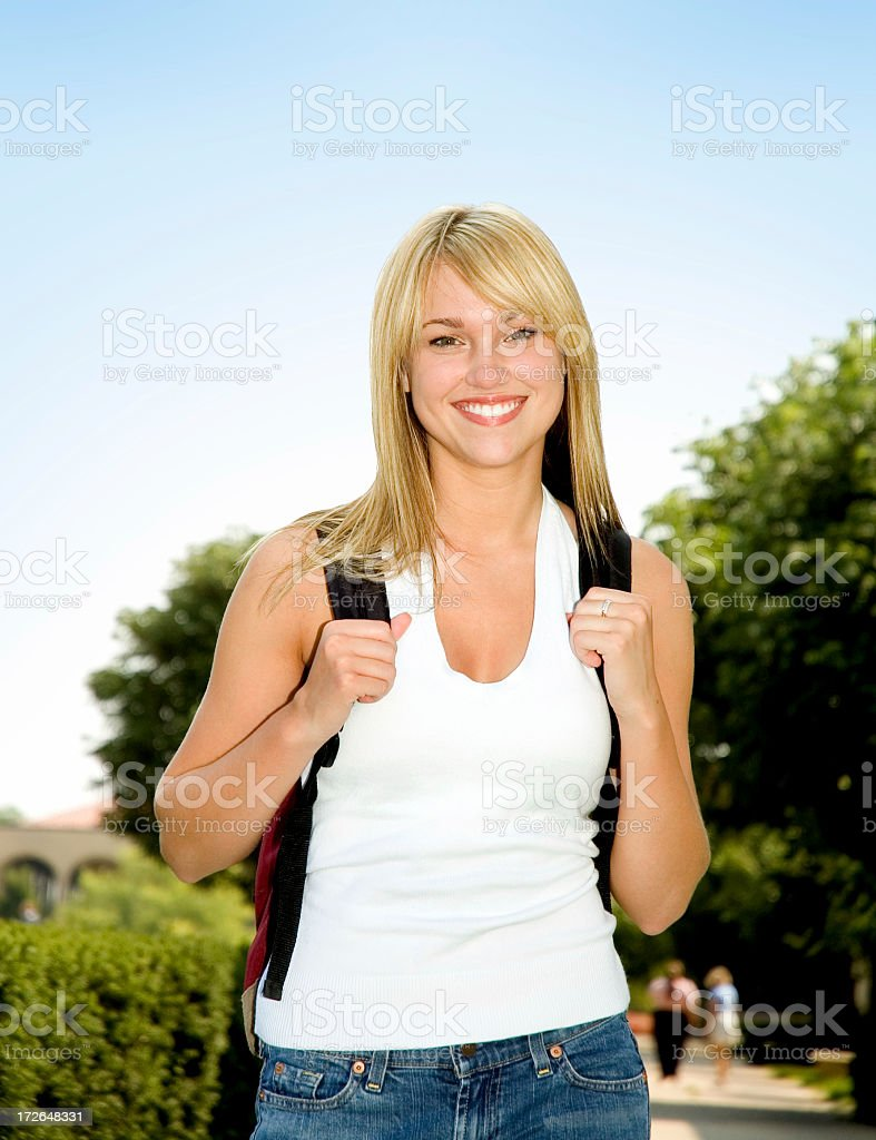 Female Student  Adult Stock Photo