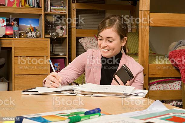 Female student studying in her dormitory picture id536093137?b=1&k=6&m=536093137&s=612x612&h= yr3y6fngdxjmdfcfiy2j89 yryjotqymhe8iza4yk0=
