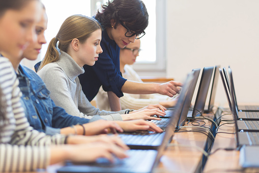 istock Female students learning computer programming 542111792