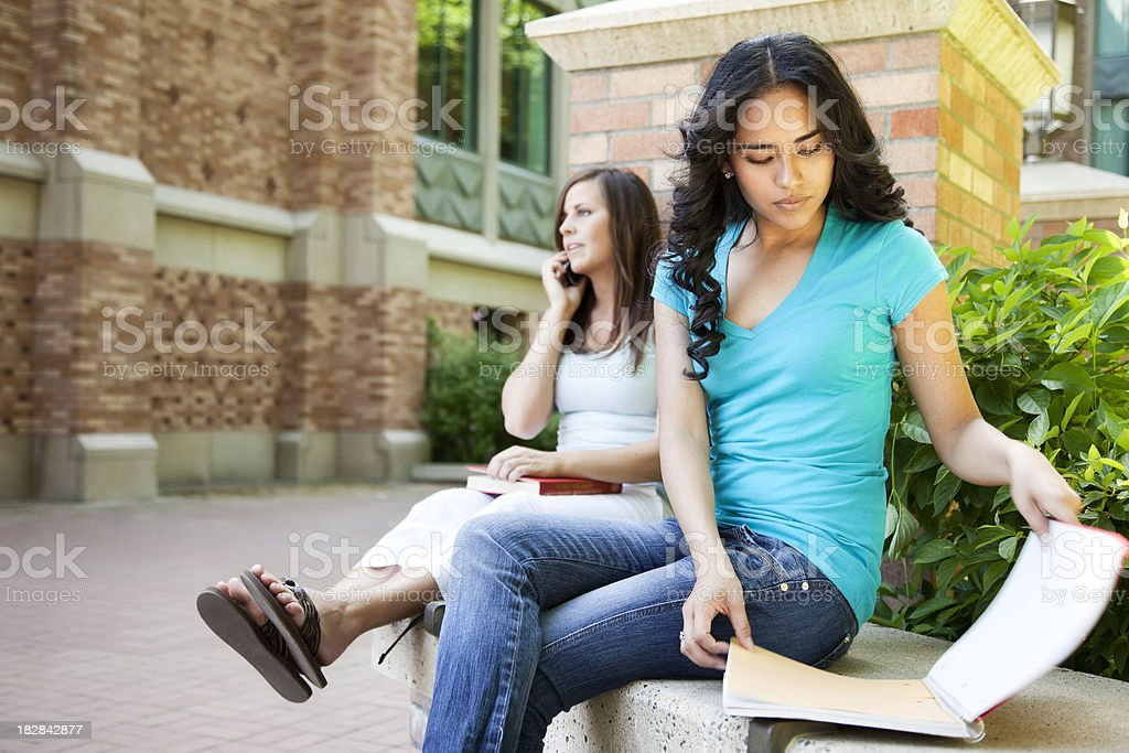 Female Students on Campus royalty-free stock photo