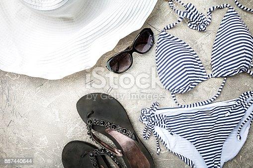 istock Female summer swimsuit set 887440644