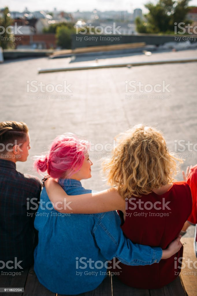 female support friendship bff help unity lifestyle stock photo