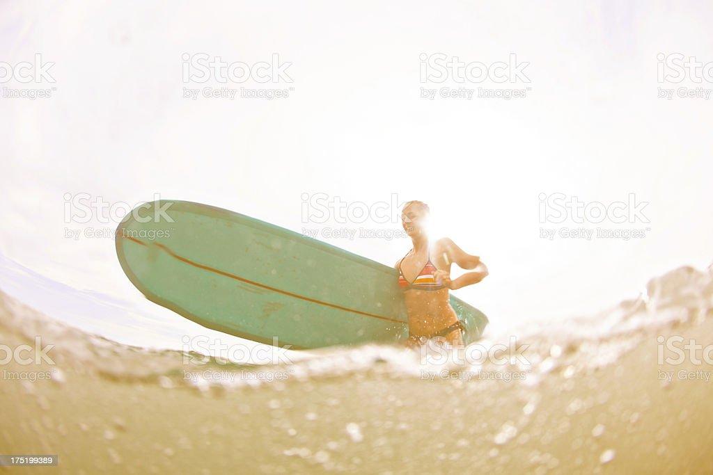 Female Surfer royalty-free stock photo