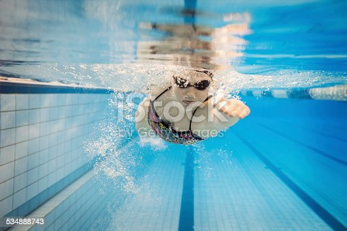 istock Female Swimmer Underwater 534888743