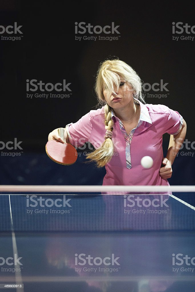 Female Table Tennis Player royalty-free stock photo