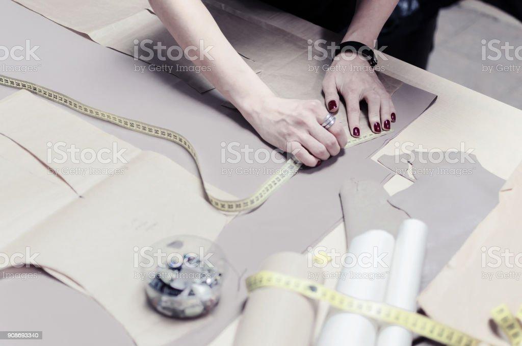 female tailor stock photo