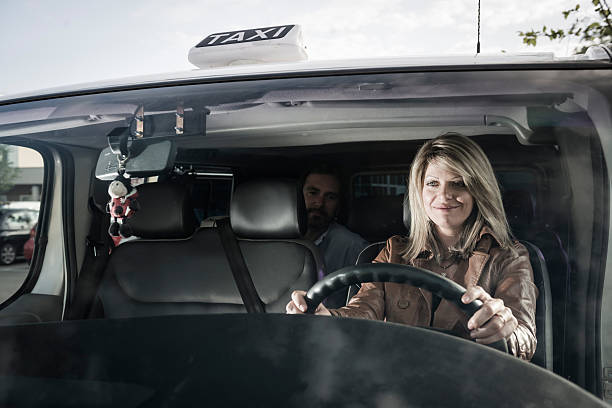 Female Taxi Driver stock photo