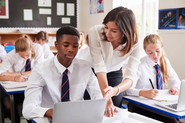 Female teacher helping pupil using computer in classroom picture id887303126?b=1&k=6&m=887303126&s=612x612&w=0&h=77aj0ekbbmcqghby7dkjdzgc3vtyfhvbpohacoqlpey=