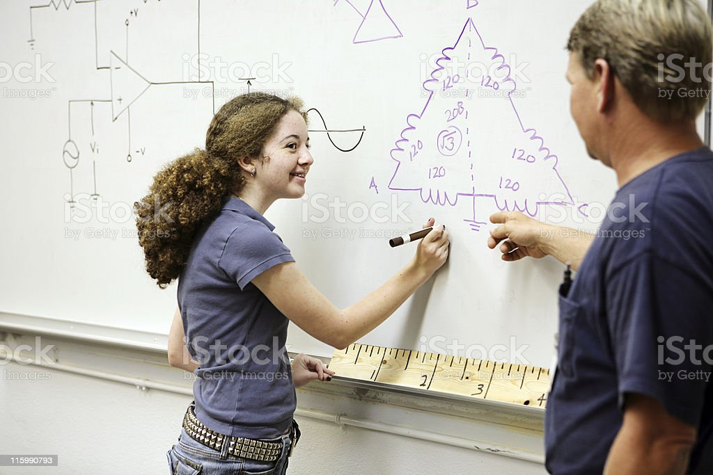 Female Technical Student royalty-free stock photo