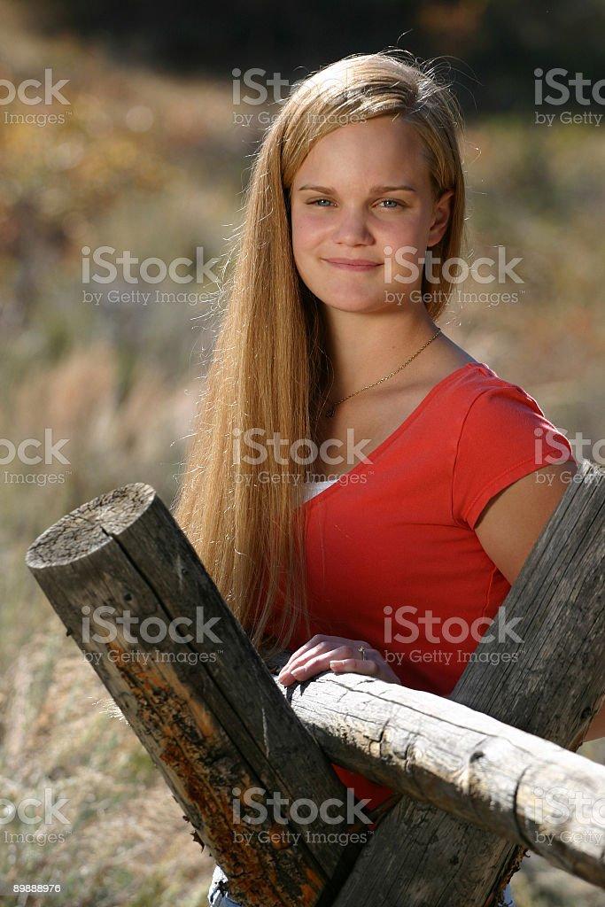 Female Teen Rural royalty-free stock photo