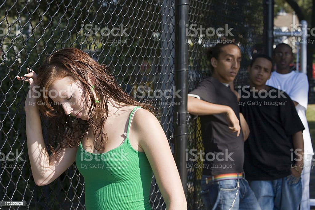 Female teenager with problems royalty-free stock photo