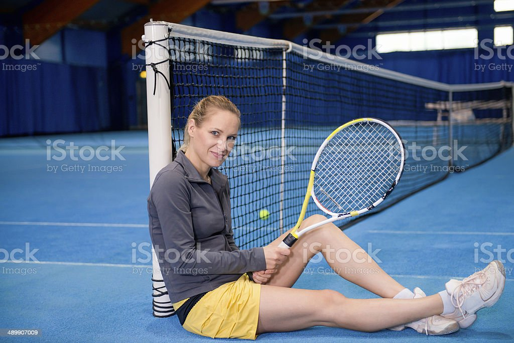Female tennis player stock photo