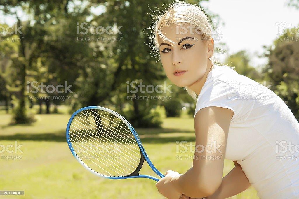 female tennis player royalty-free stock photo