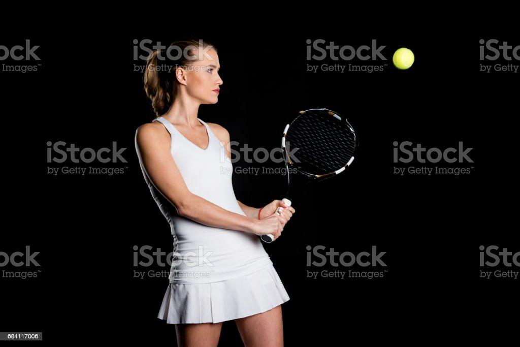 Female tennis player royalty free stockfoto