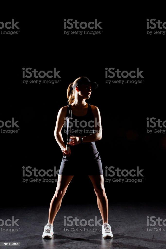 Female tennis player royaltyfri bildbanksbilder