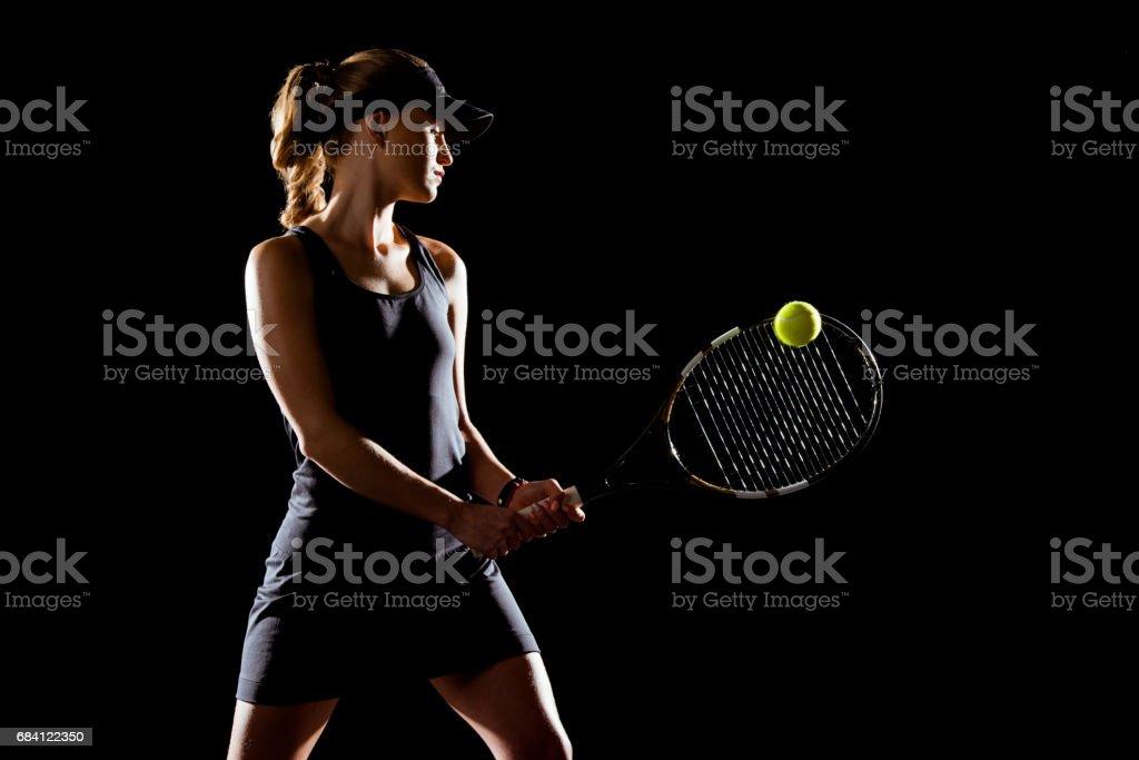 Tennisspelare royaltyfri bildbanksbilder