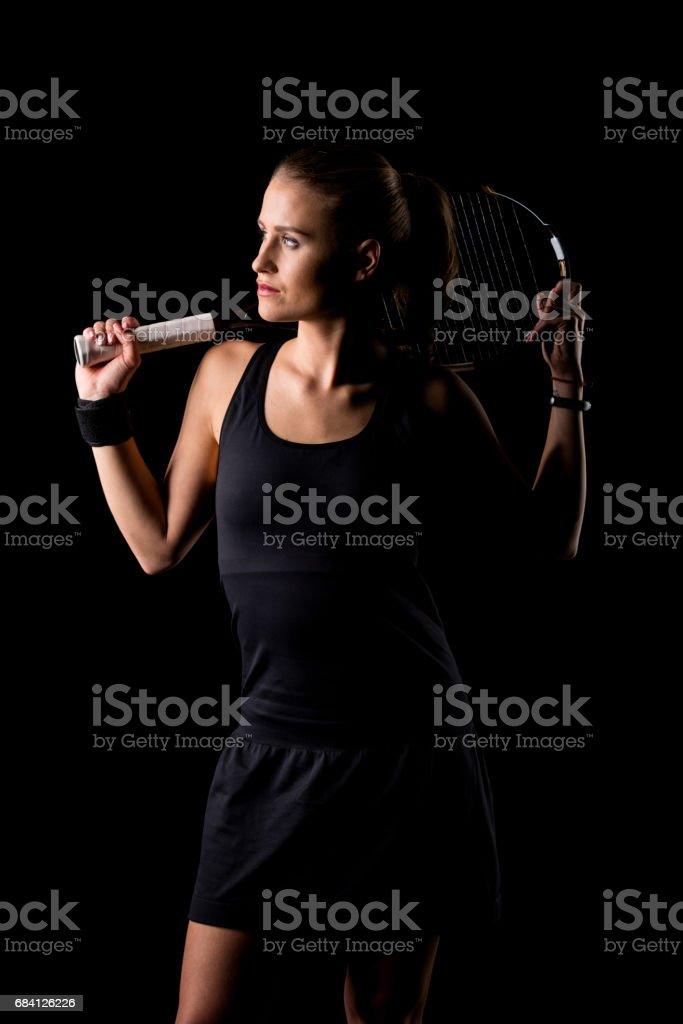 Female tennis player foto stock royalty-free