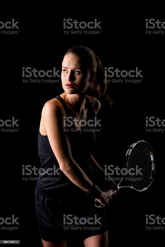 Female tennis player foto stock royalty-free