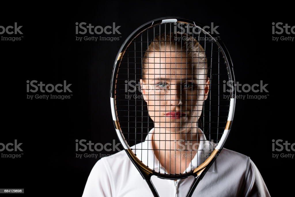 Female tennis player zbiór zdjęć royalty-free