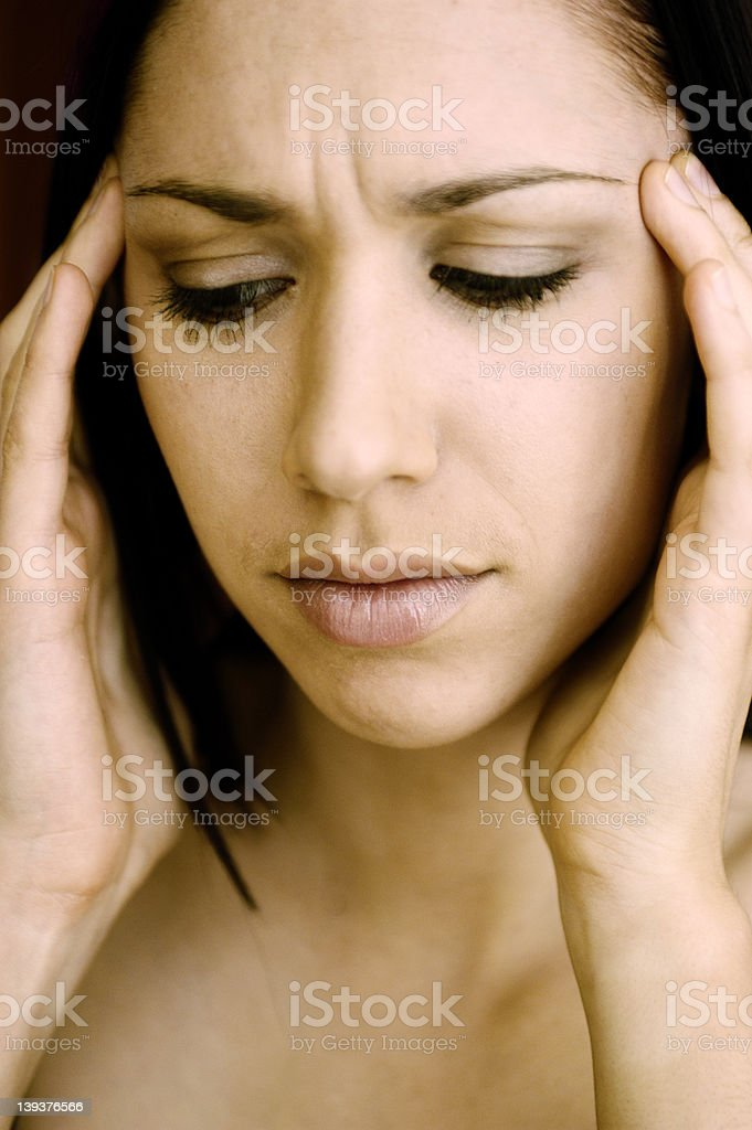 Female tension royalty-free stock photo