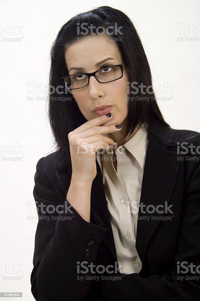 Female Thinking stock photo