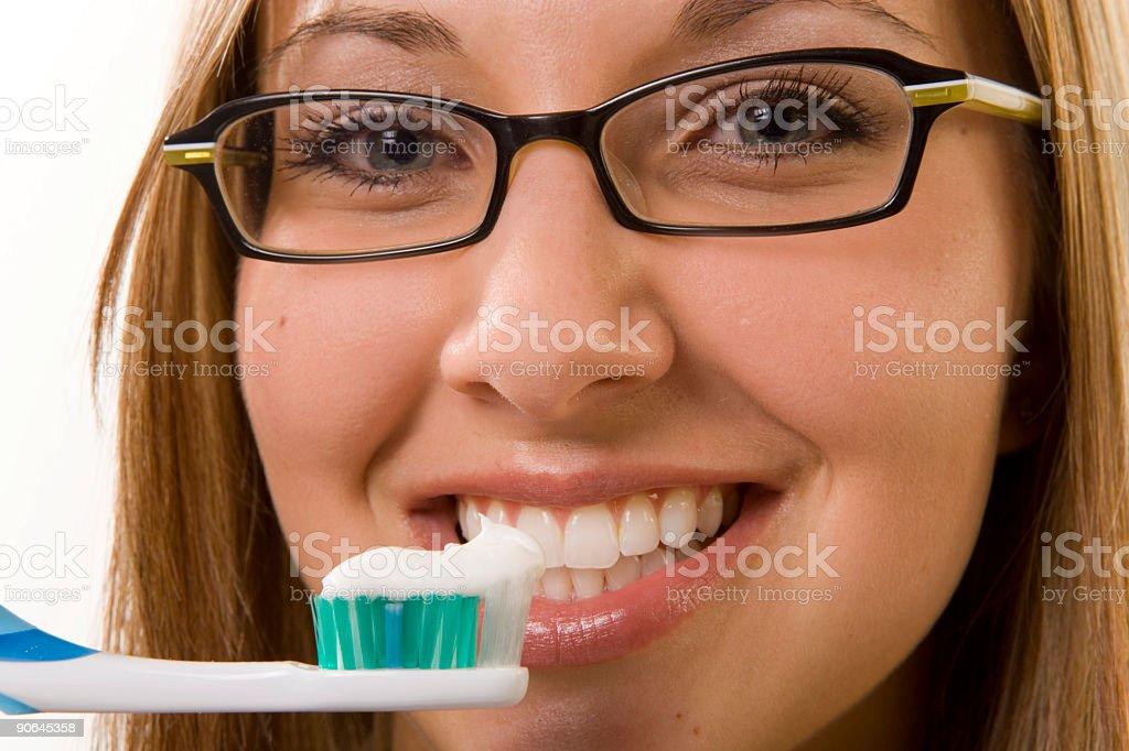 Female / Tooth Brush royalty-free stock photo