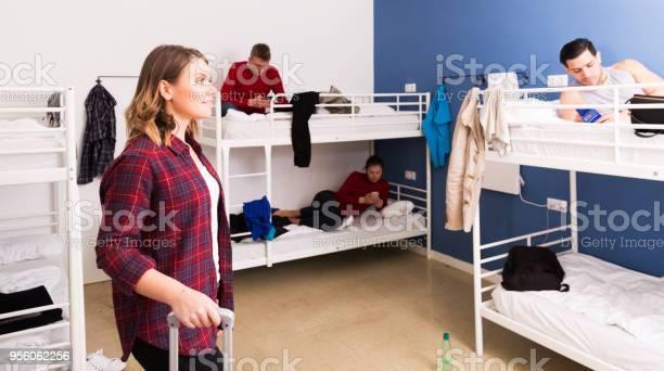 Female traveler coming to hostel picture id956062256?b=1&k=6&m=956062256&s=612x612&h= lpjzabvaqutpsqjyvadvl8kk0k5 kkv3rr kzek1j8=