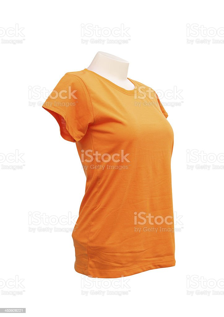Female Tshirt Template On The Mannequin Stock Photo & More Pictures ...