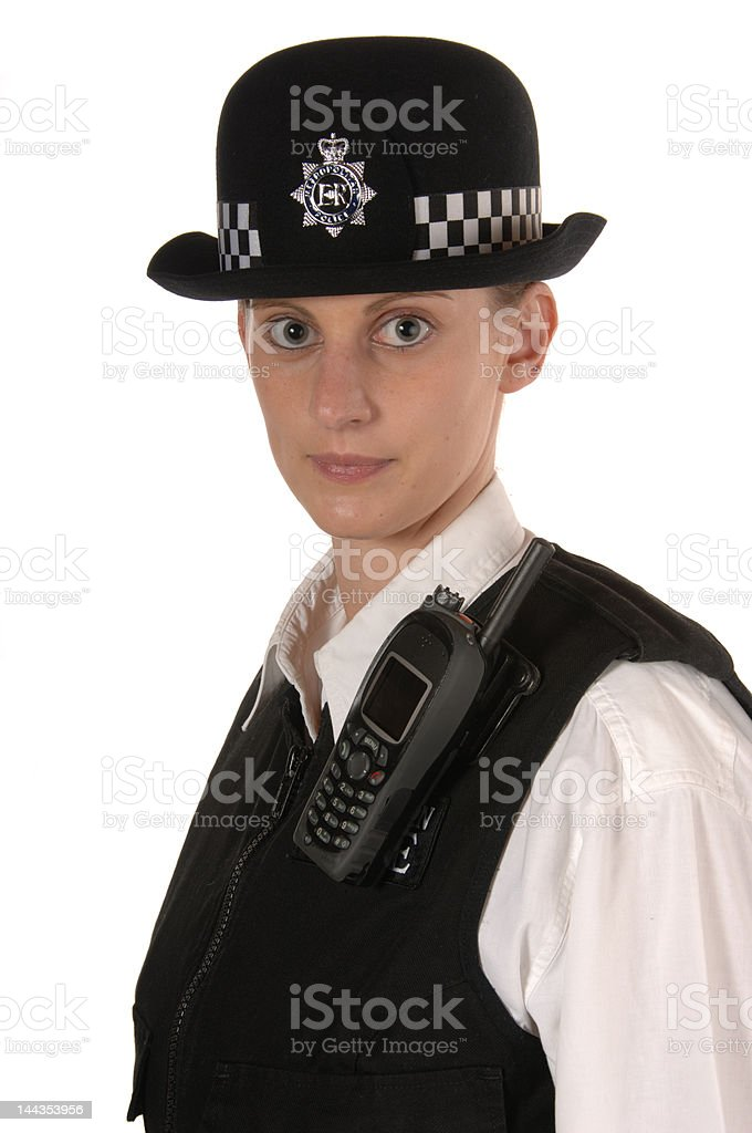 Female UK Police Officer royalty-free stock photo