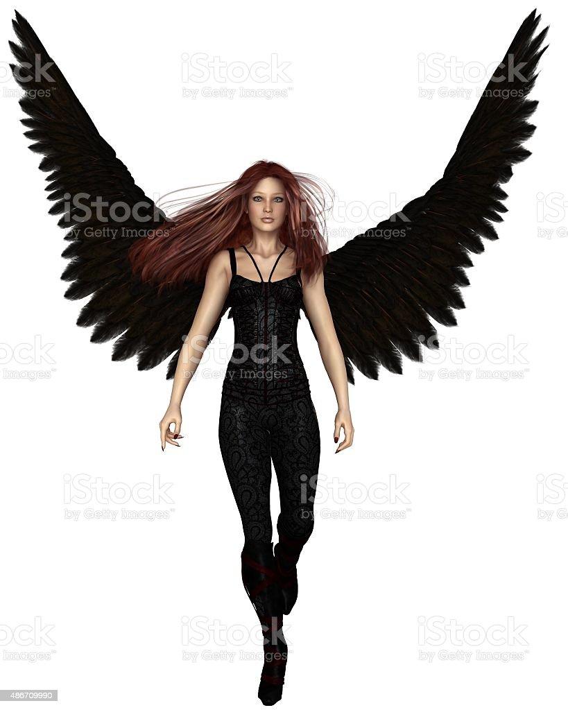 Female Urban Guardian Angel, Walking stock photo