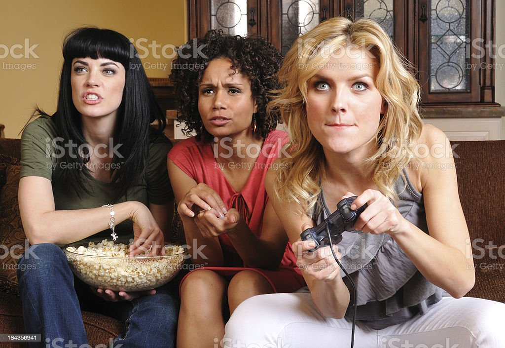 Female Video Gamers stock photo