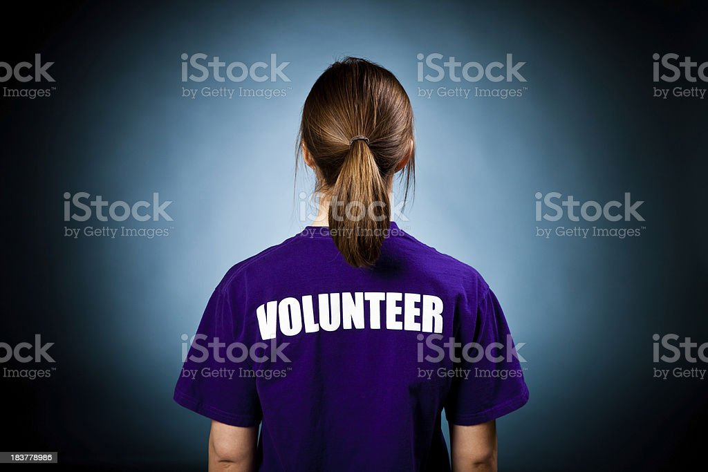 Female Volunteer royalty-free stock photo