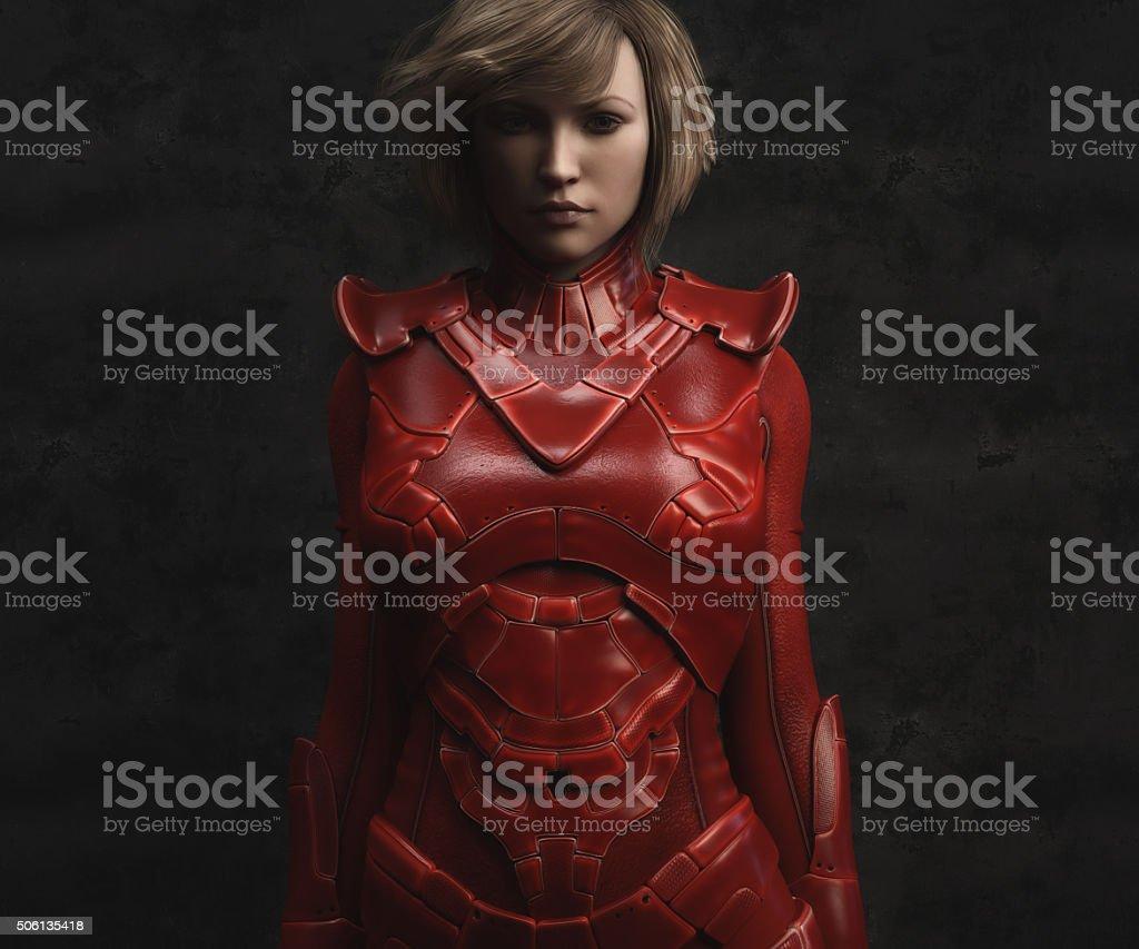 female warrior portrait stock photo
