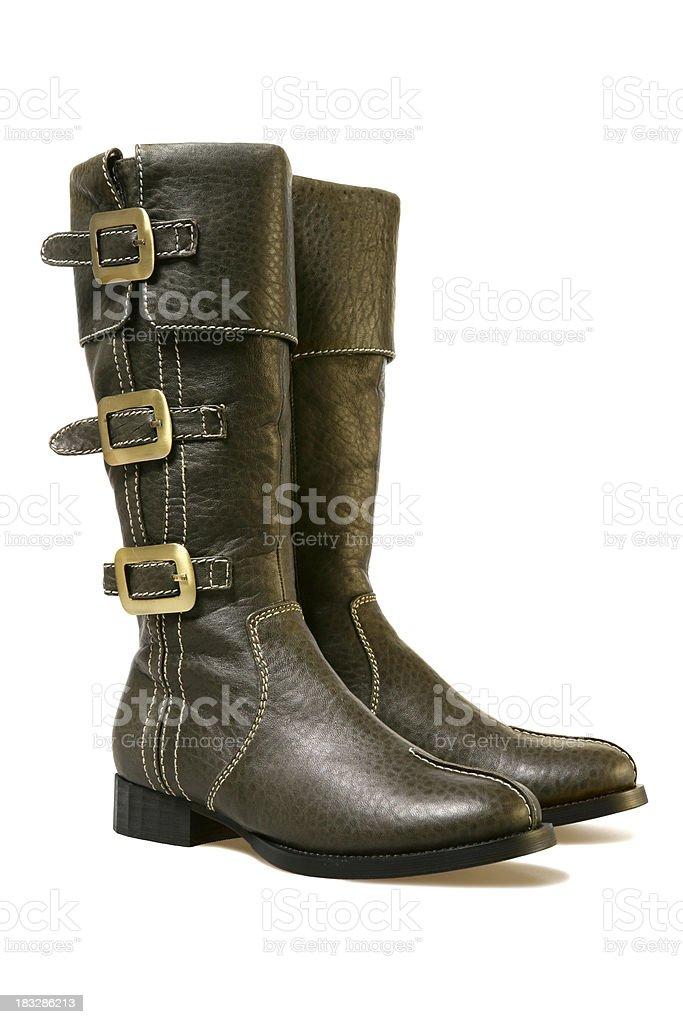 Female winter boots stock photo