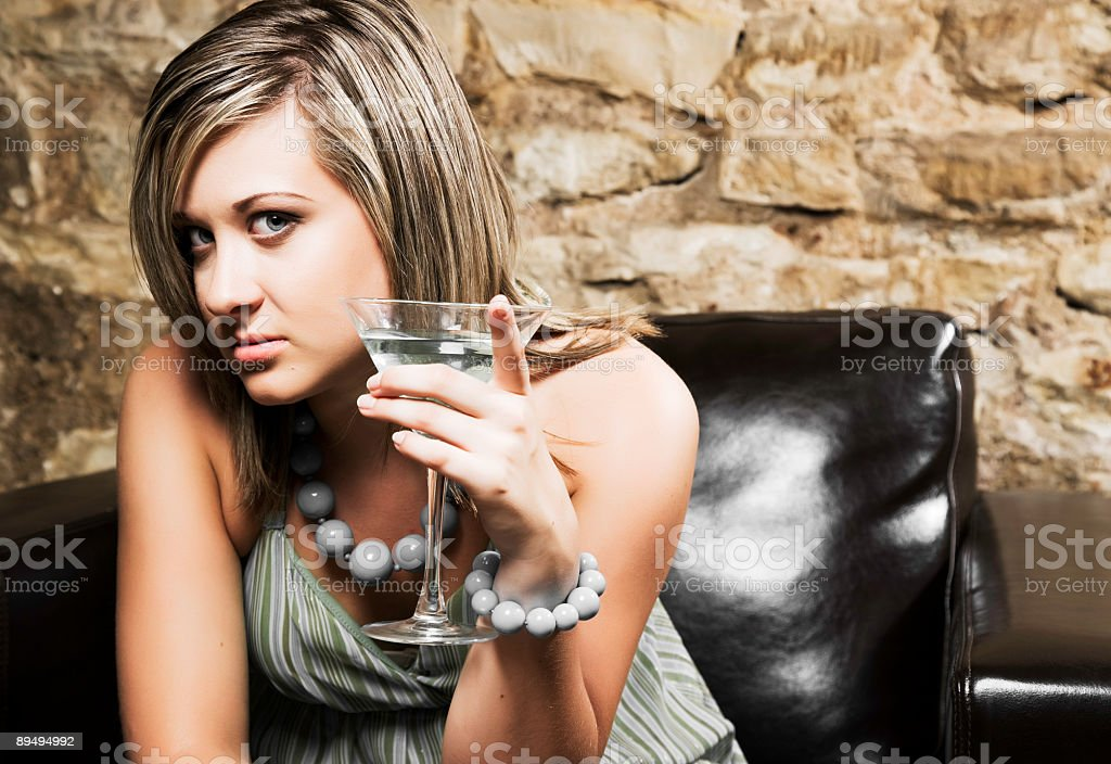Female With Martini royalty-free stock photo
