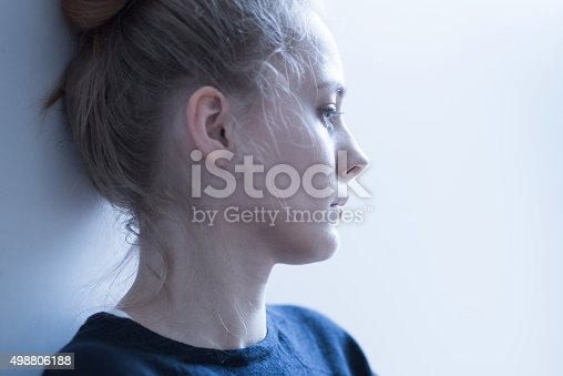 istock Female with mental problems 498806188