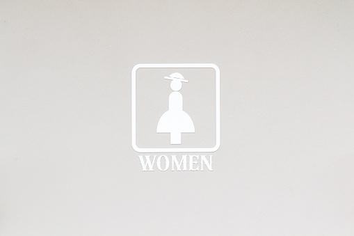 Vrouwelijke Vrouwen Toilet Teken Stockfoto en meer beelden van Afbeelding