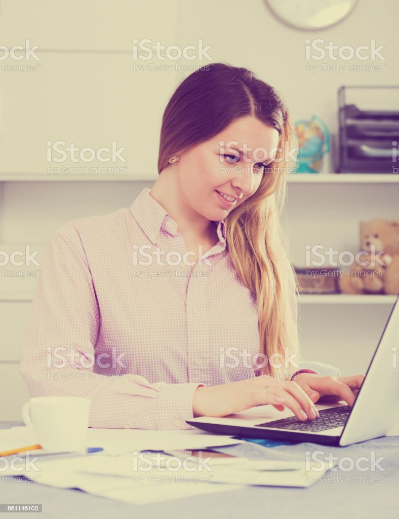 Female worker in office royalty-free stock photo