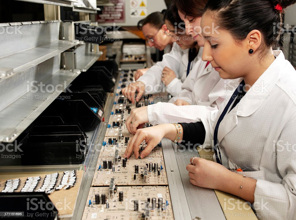 female workers stock photo