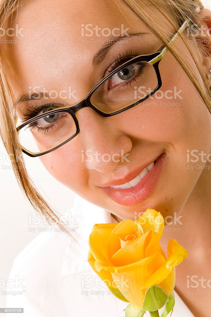 Female / Yellow Rose royalty-free stock photo