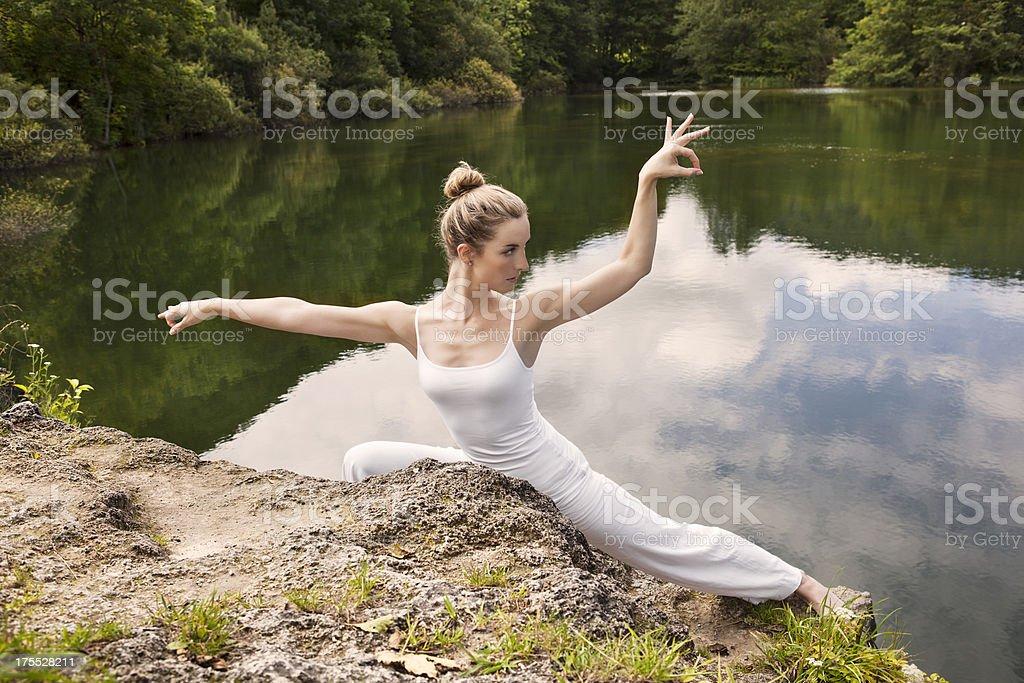 female zen master royalty-free stock photo