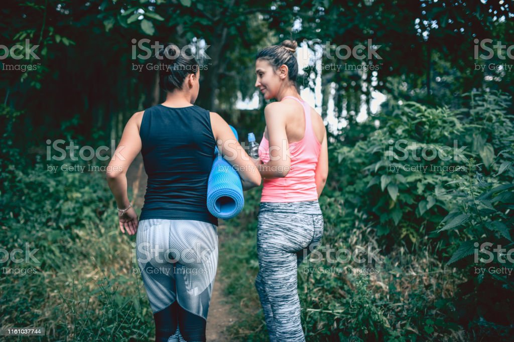 Females Going To Work Out In The Forest