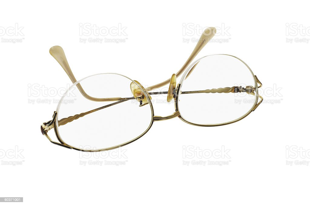 Feminine eye glasses royalty-free stock photo